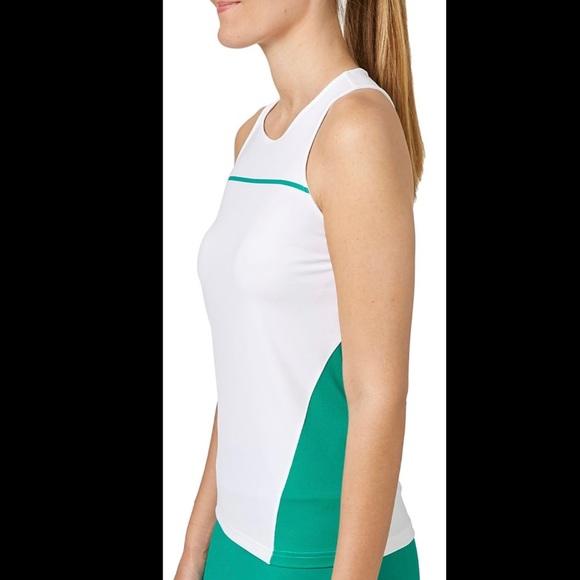 Size L Prince Tennis Tank Mesh Sides Green NWT